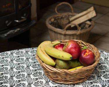 houtkachel in de keuken